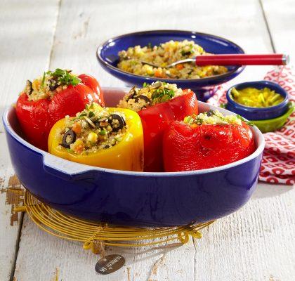 Polnjene paprike s kvinojo