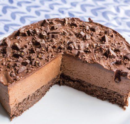 LCHF čokoladna torta, ledena