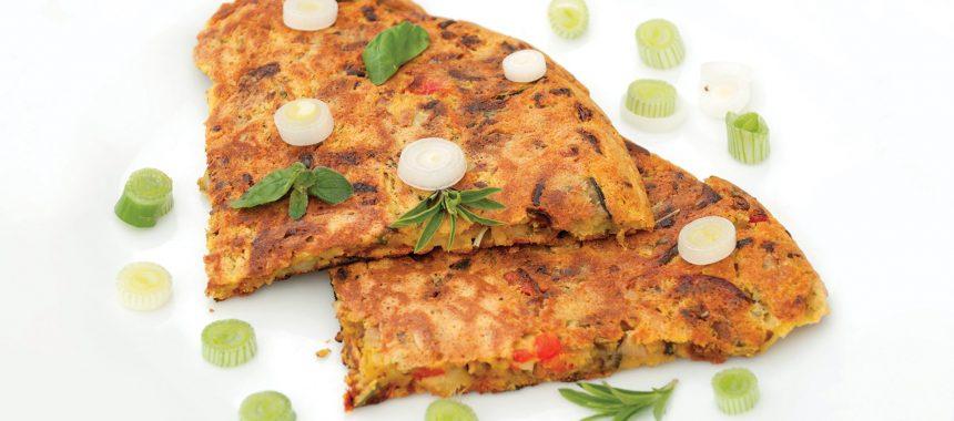 Veganska čičerkina omleta