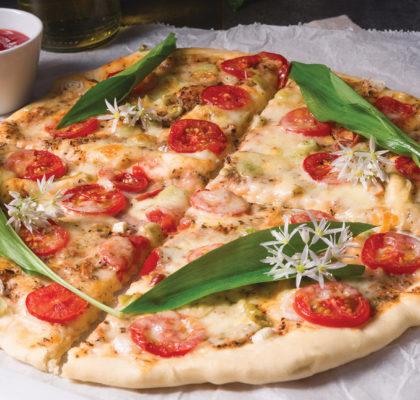 Spomladanska pica s čemažem in regratom