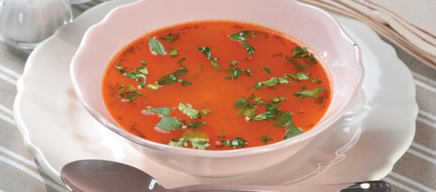Paradižnikova juha s krompirjem