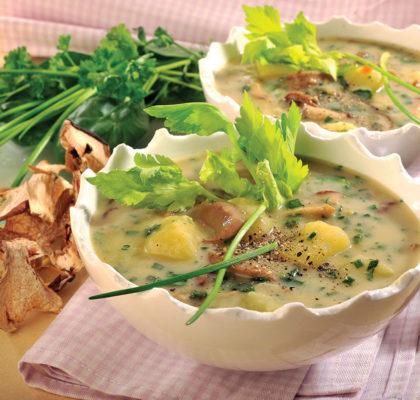 Krompirjeva juha z zelišči