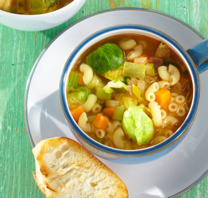 Zimska juha z brstičnim ohrovtom